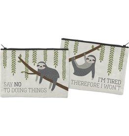 Bag (Zip) - Say No To Doing Things (Sloth)
