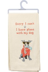 Tea Towel - Sorry I Can't I Have Plans With My Dog