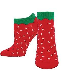 Womens Socks (Ankle) - Strawberries