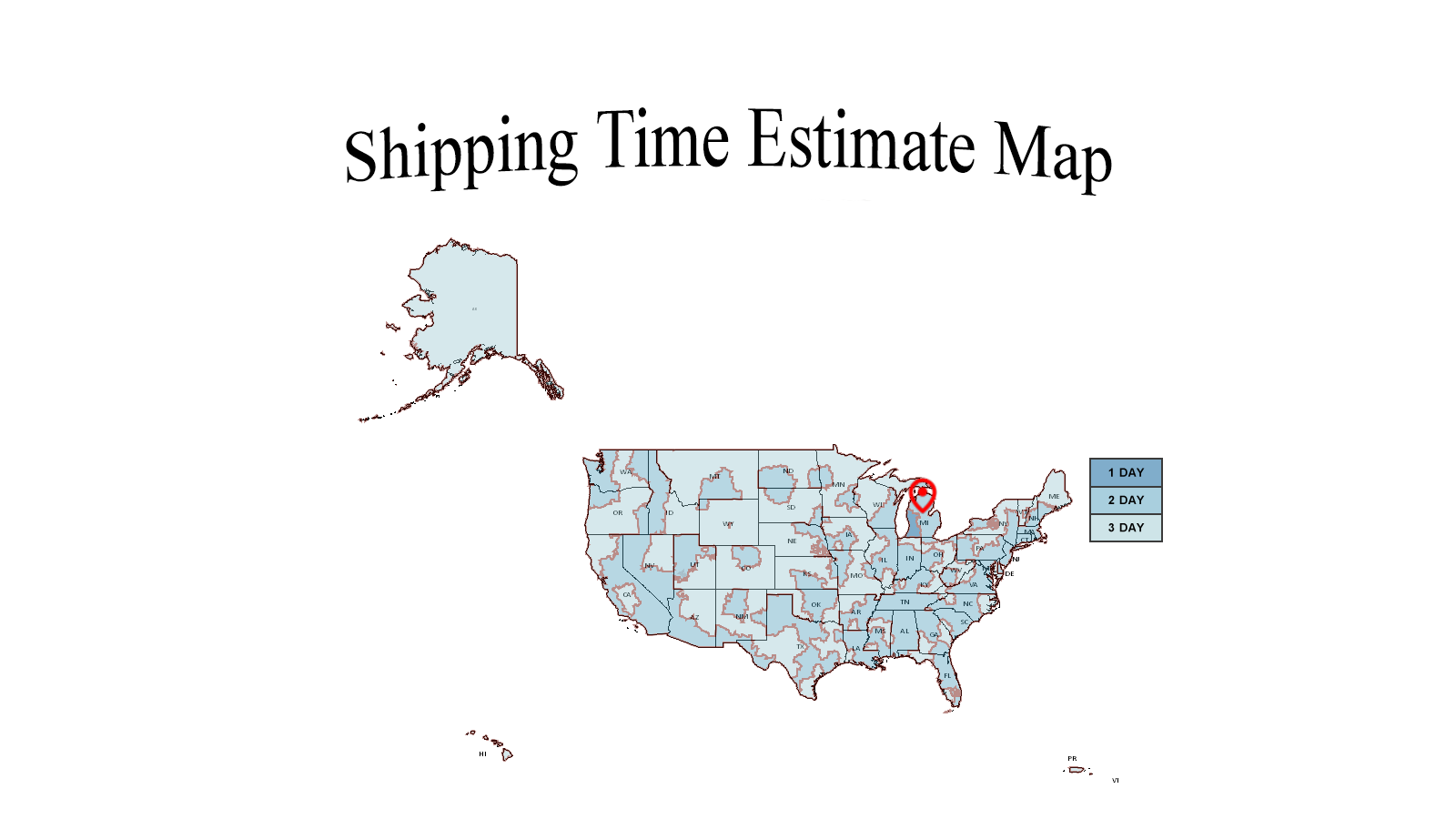 Shipping Estimate Map