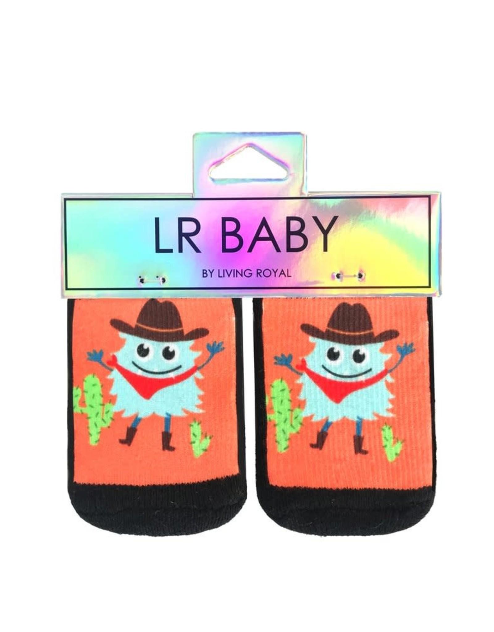 Socks (Kids) - Cowboy Monster