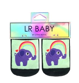 Kids Socks - Elephant Rainbow