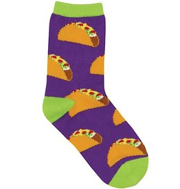 Kids Socks - Tacos (Purple) (4 - 7 Years)