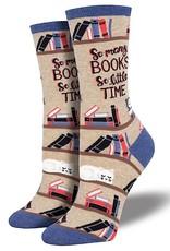 Womens Socks - So Many Books So Little Time