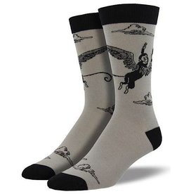 Mens Socks - Monkey Of Oz (Cement)