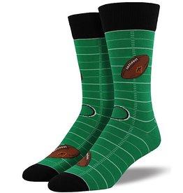 Mens Socks - Football (Green)