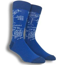 Mens Socks - Drink Recipes (Blue)