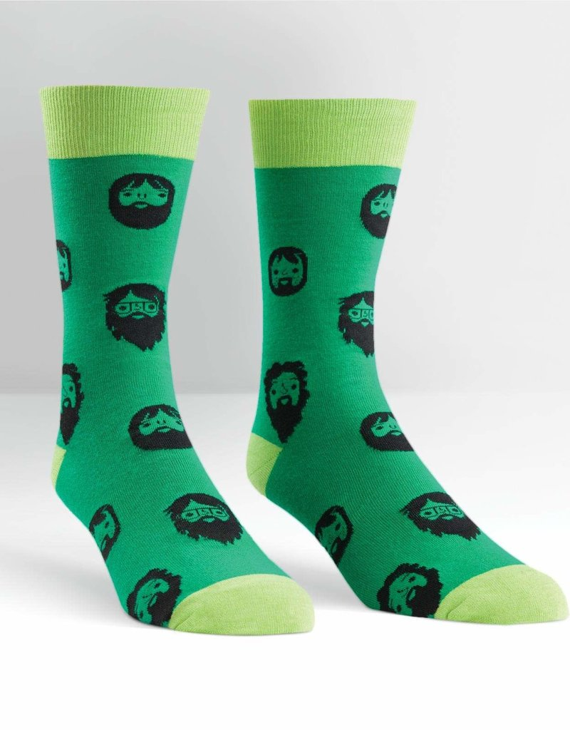 Mens Socks - Beard (Green)