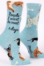 Blue Q Womens Socks - People To Meet Dogs