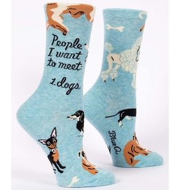 Blue Q Womens Socks - People To Meet Dogs