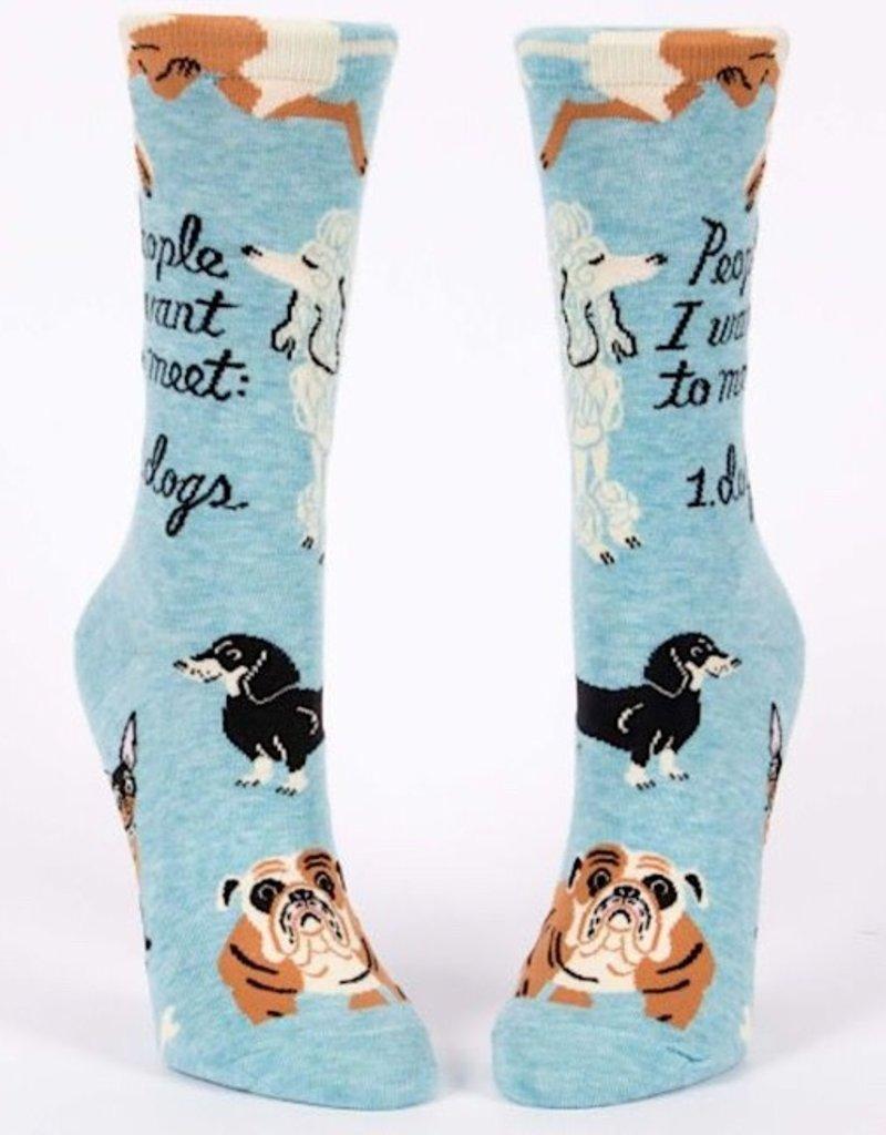 Womens Socks - People To Meet Dogs
