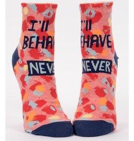 Socks (Womens) (Ankle) - I'll Behave Never