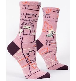 Womens Socks - Go Away Introverting