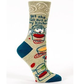 Blue Q Womens Socks - Get The Hell Out Of My Kitchen