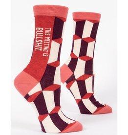 Socks (Womens) - Meeting Is Bullshit