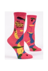 Socks (Womens) - My Favorite Salad Is Wine