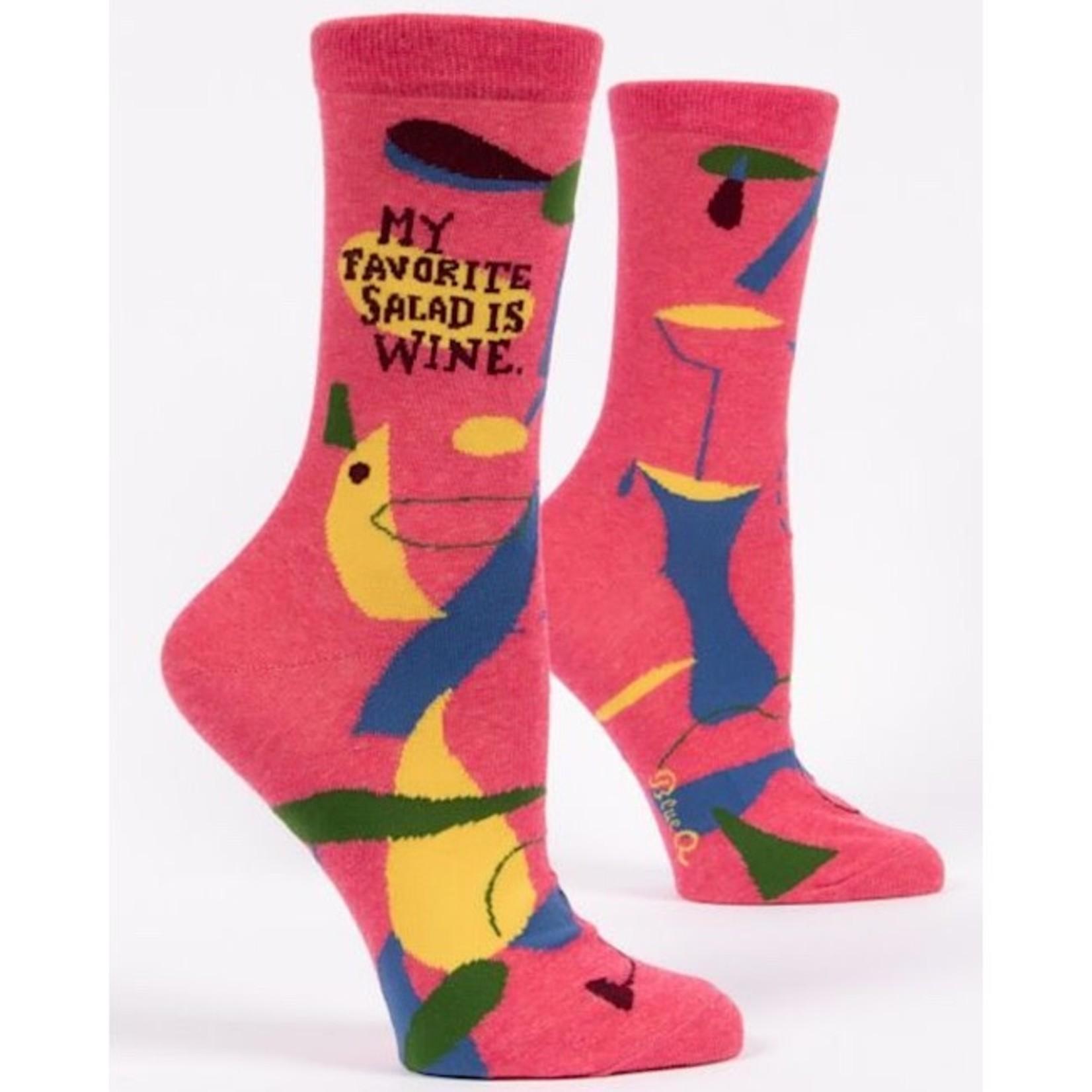 Socks (Womens) - My Favorite Salad Is Wine