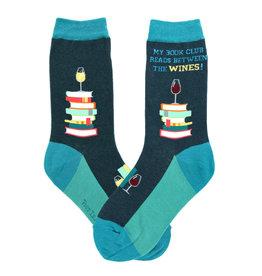 Womens Socks - My Book Club Reads Between Wines
