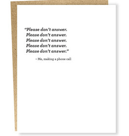 Card #685 - Phone Call: Please Don't Answer