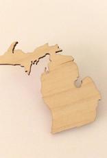 Brooch - Wood Michigan