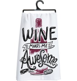 Dish Towel - Wine Makes Me Awesome