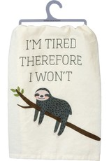 Dish Towel - I'm Tired Therefore I Won't (Sloth)