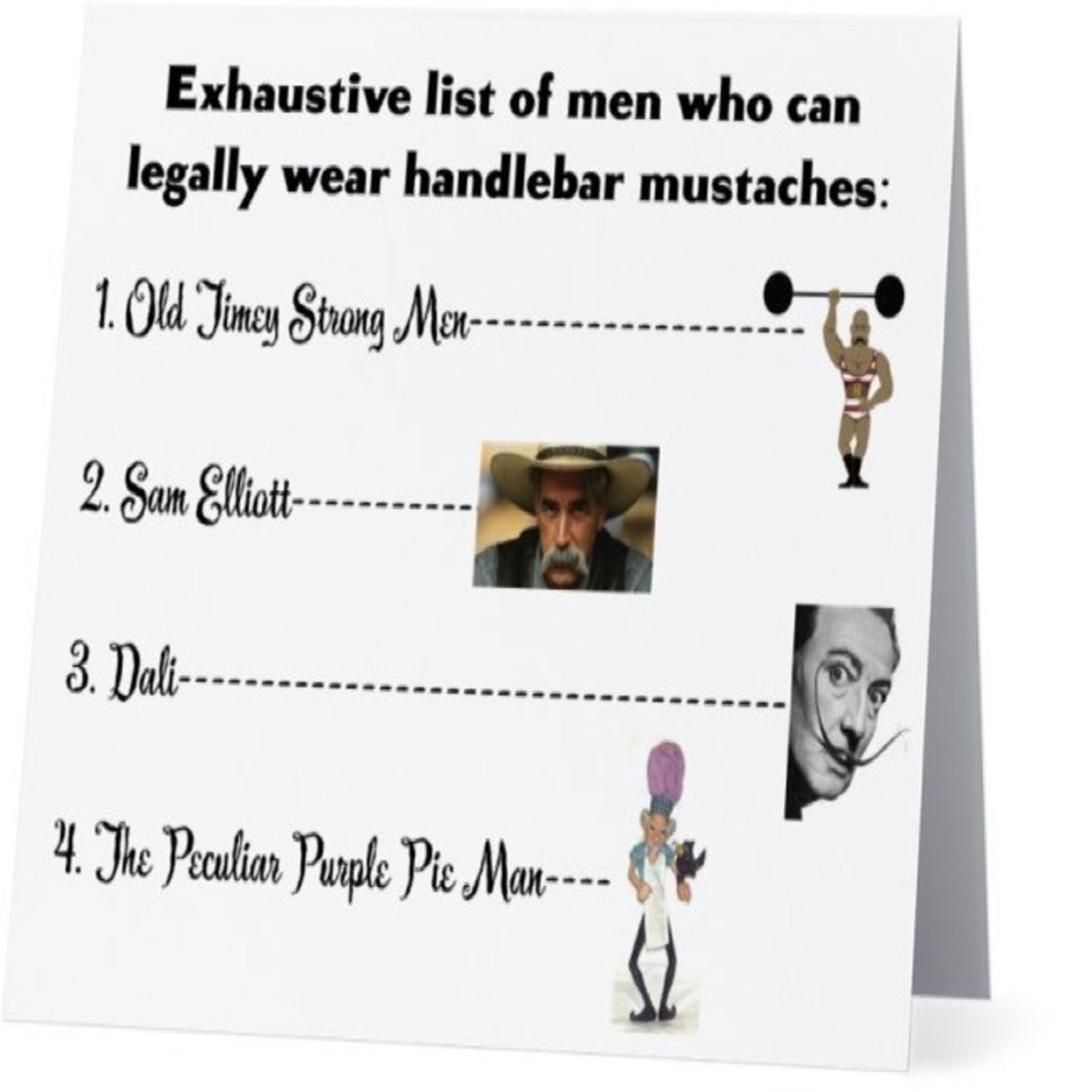 Bad Annie's Card #076 - Handlebar Mustaches