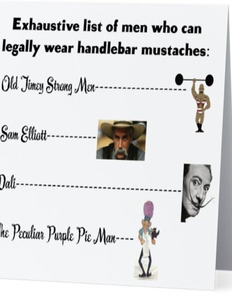 Card #076 - Handlebar Mustaches
