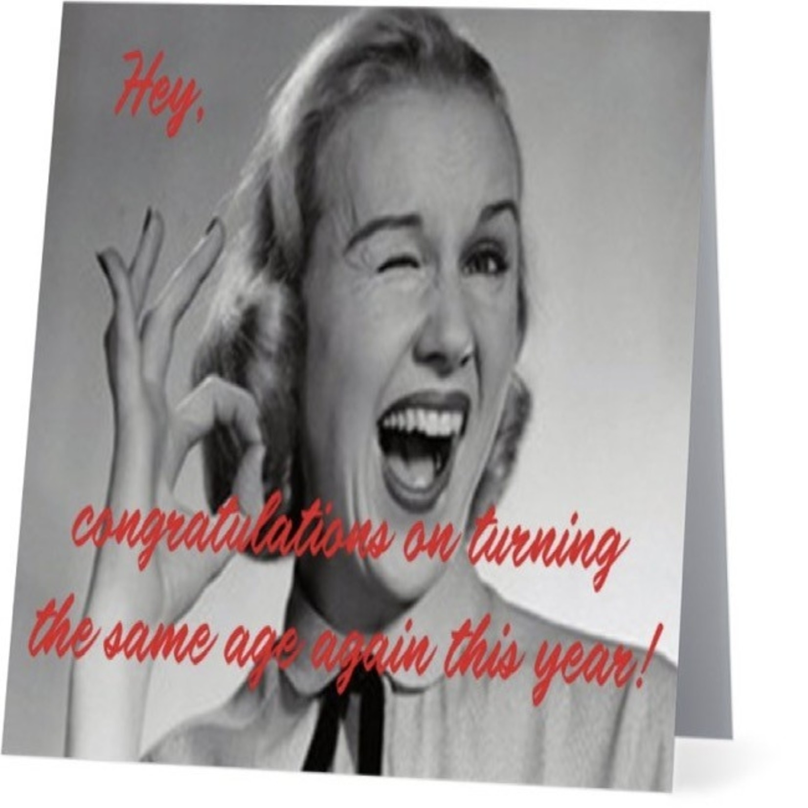 Bad Annie's Card #014 - Congrats On Turning The Same Age