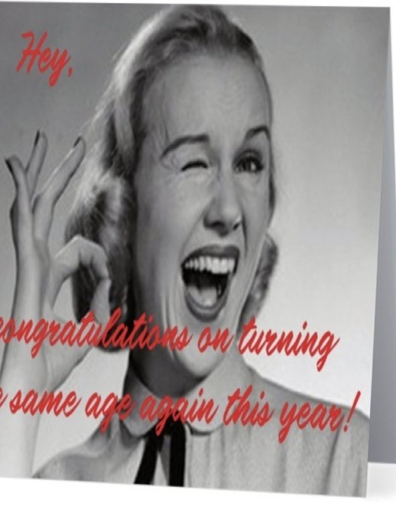 Annies Card #014 - Congrats On Turning The Same Age
