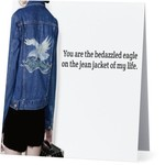 Bad Annie's Card #045 - Bedazzled Eagle On Jean Jacket
