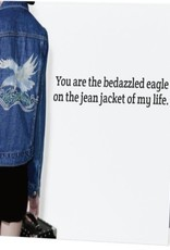 Annies Card #045 - Bedazzled Eagle On Jean Jacket