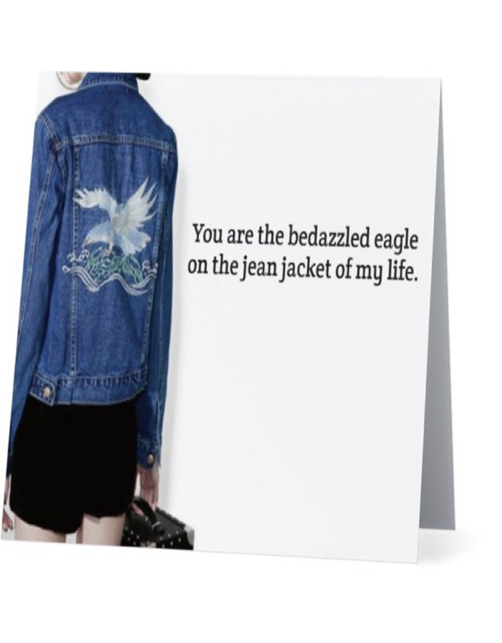 Card #045 - Bedazzled Eagle On Jean Jacket