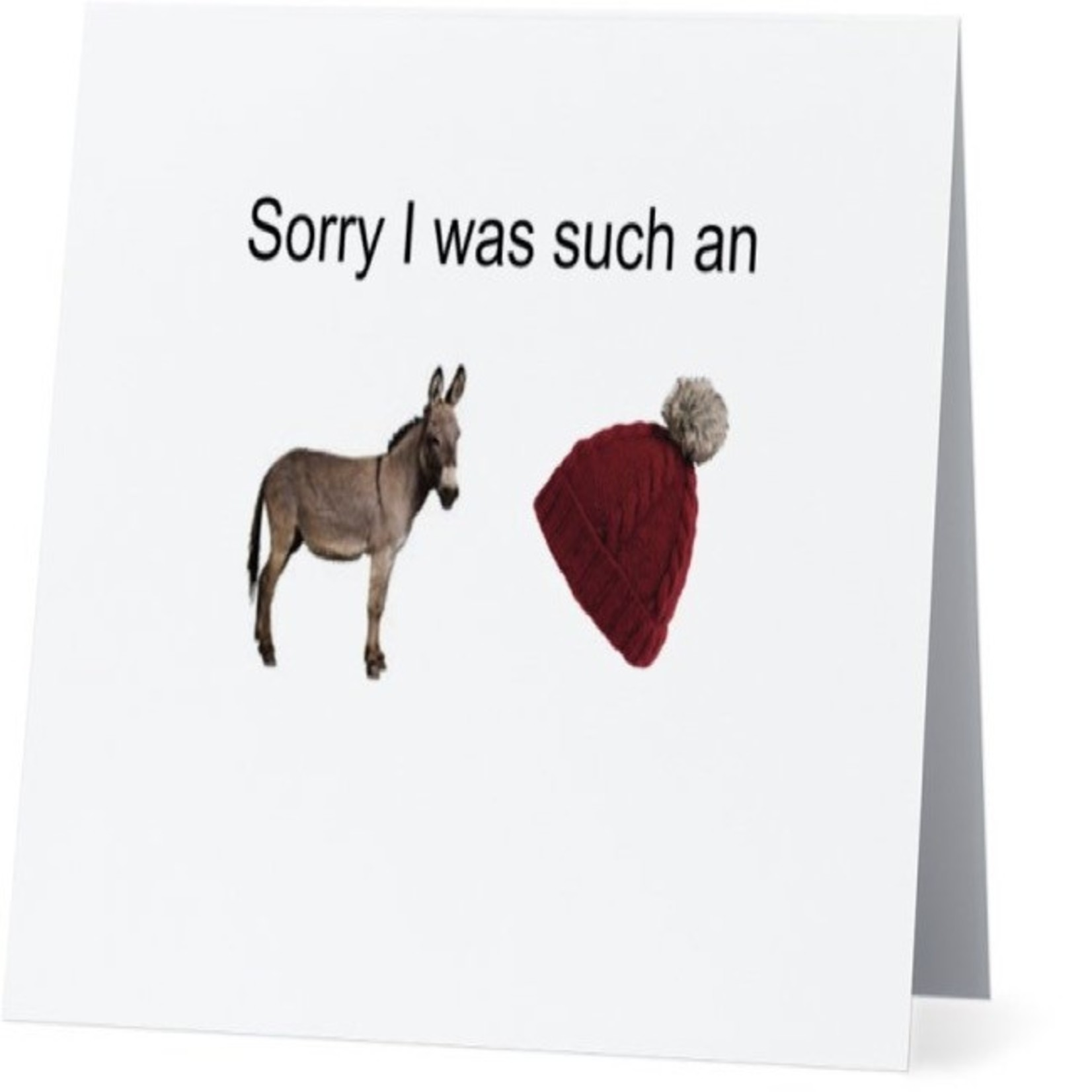Bad Annie's Card #026 - Sorry I Was An Asshat