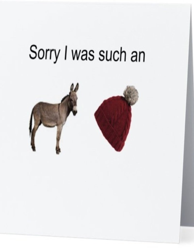 Annies Card #026 - Sorry I Was An Asshat