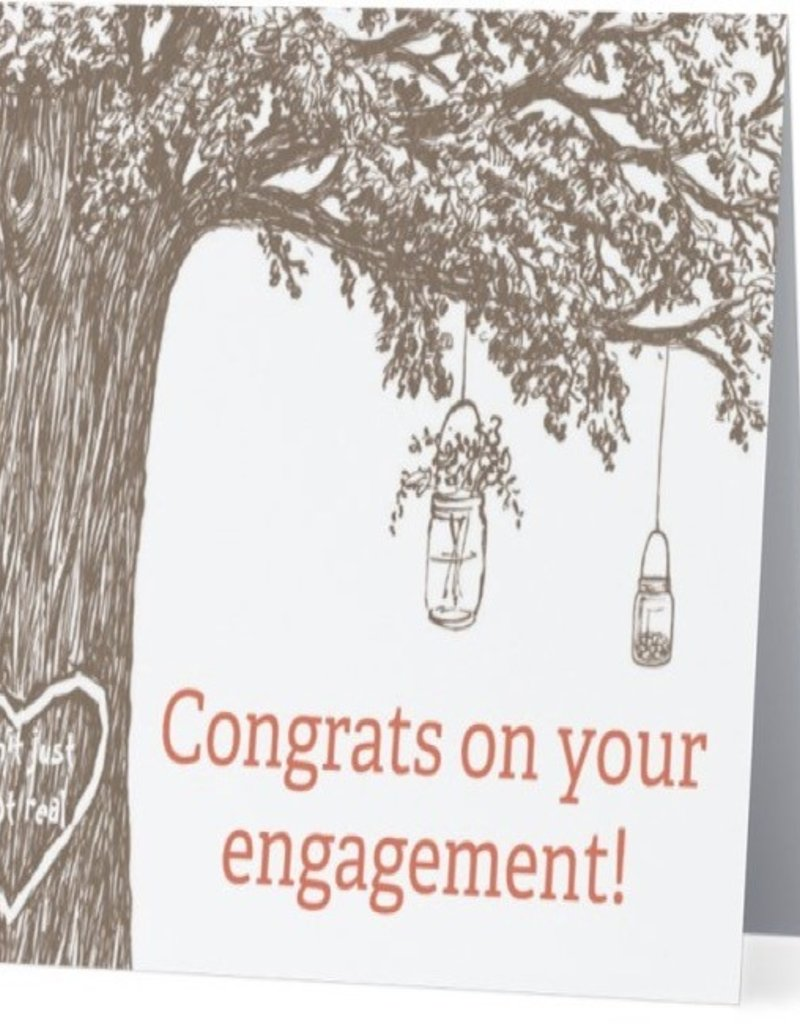 Annies Card #004 - Congrats On Engagement, Pinterest Wedding