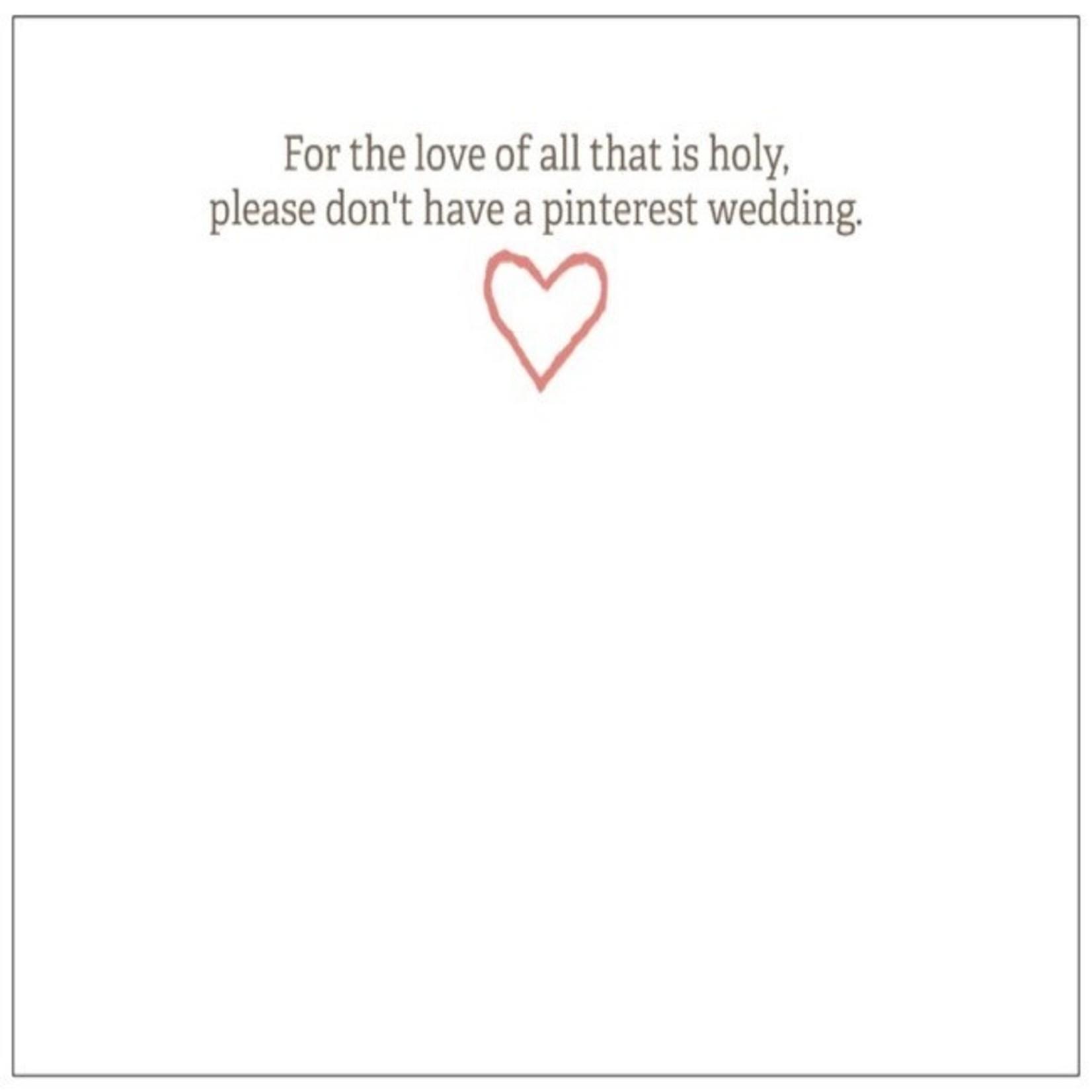 Bad Annie's Card #004 - Congrats On Engagement, Pinterest Wedding