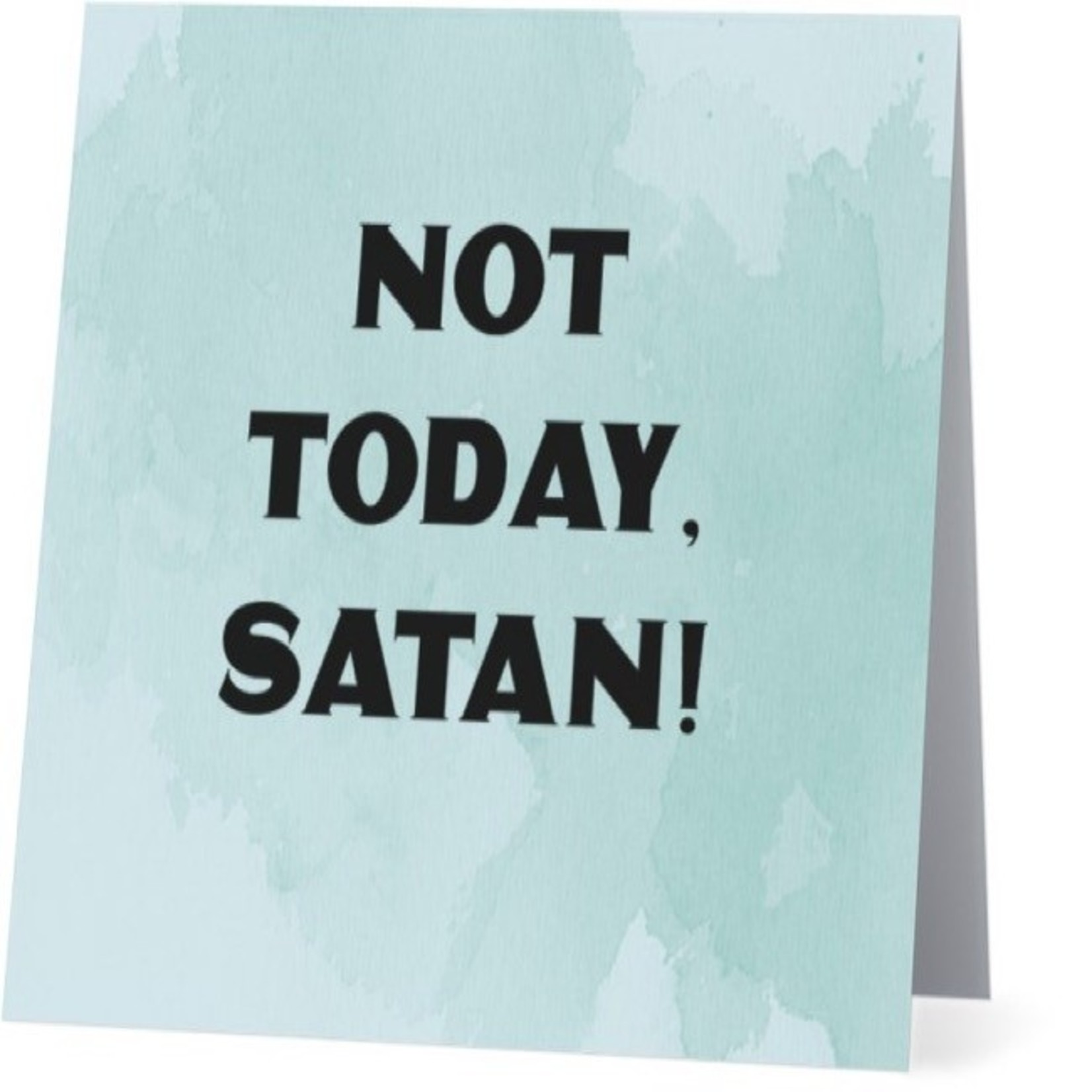 Bad Annie's Card #099 - Not Today Satan