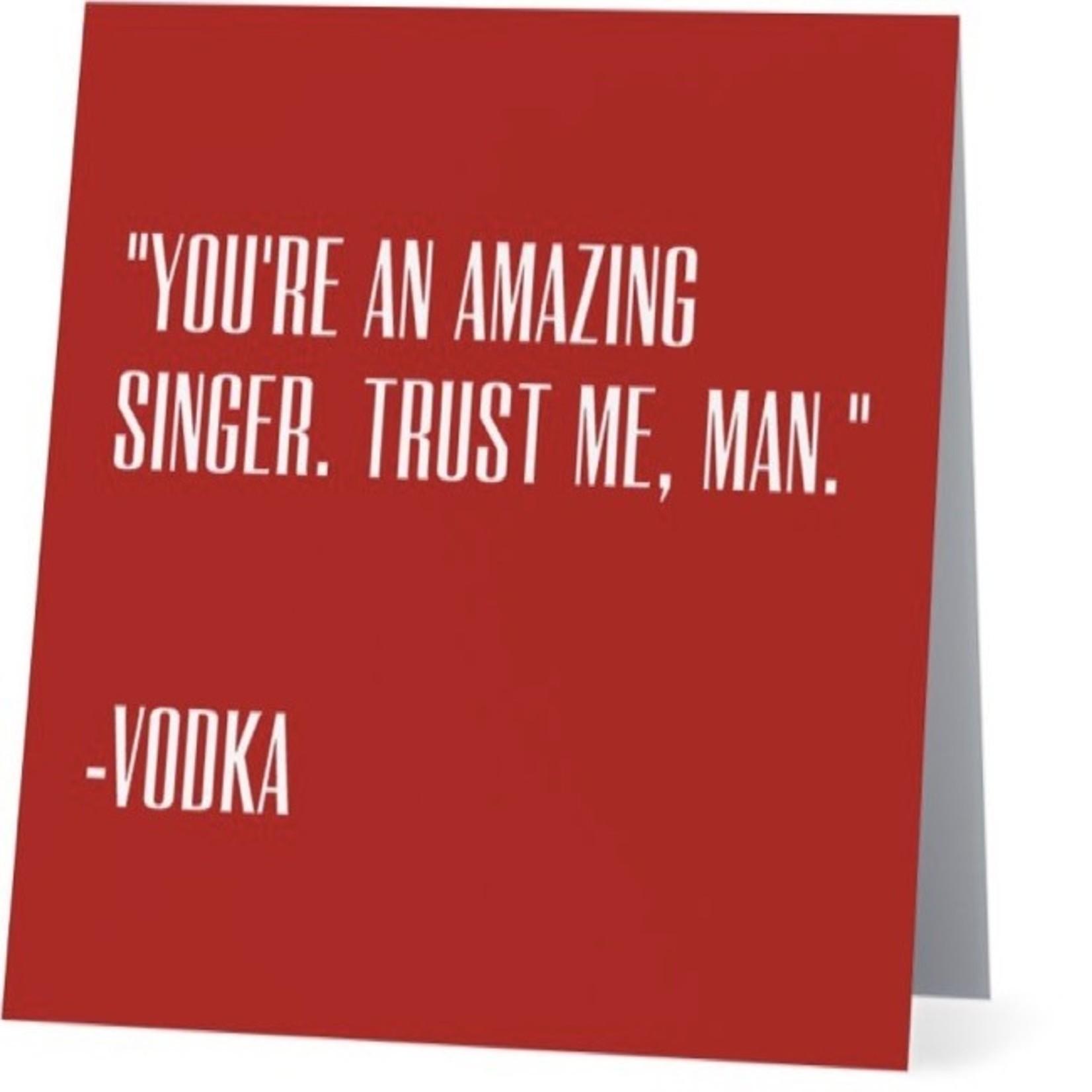 Bad Annie's Card #051 - Amazing Singer, Vodka