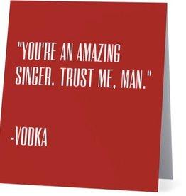 Annies Card #051 - Amazing Singer, Vodka