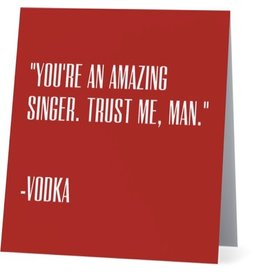 Card #051 - Amazing Singer, Vodka