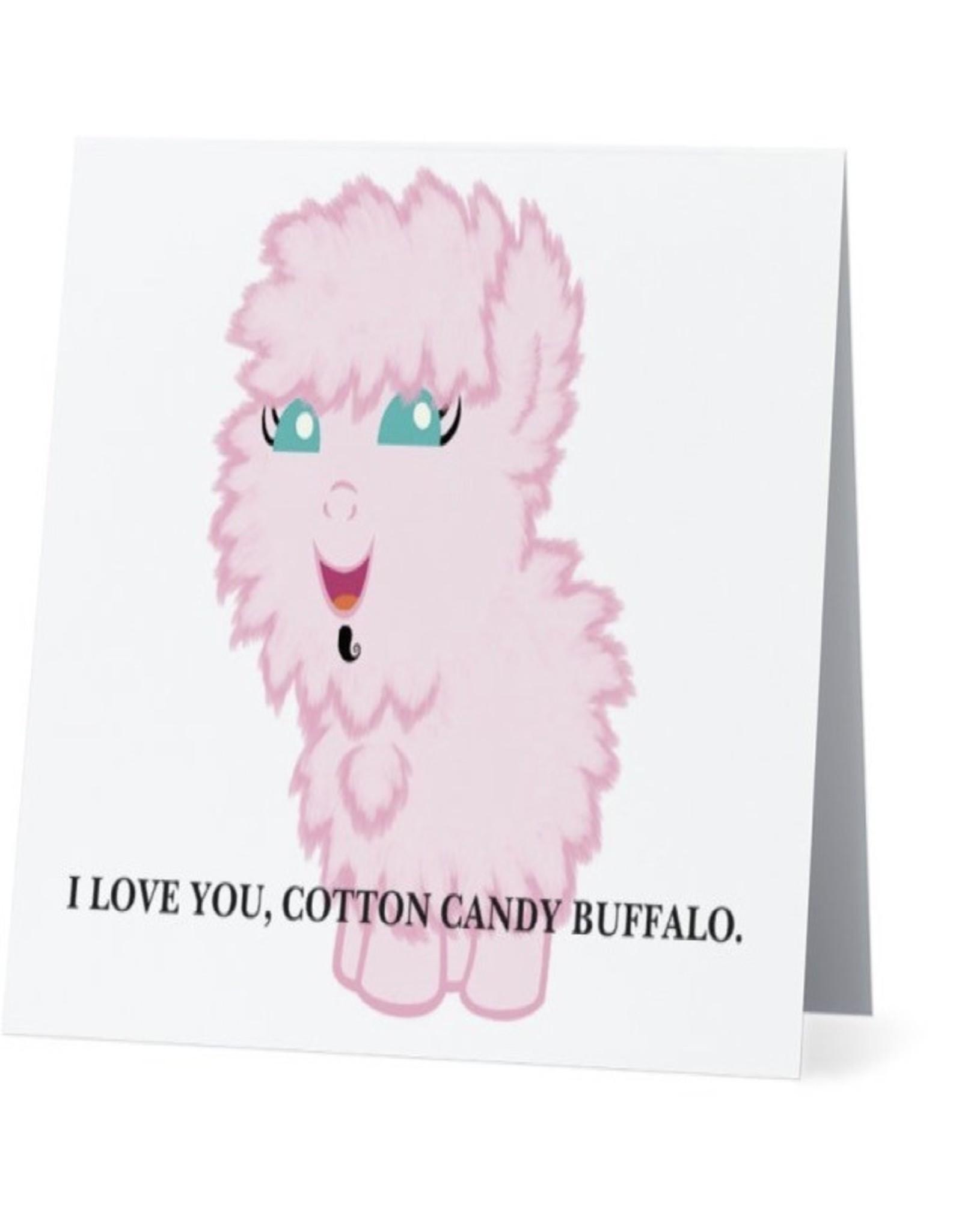 Card #008 - I Love You Cotton Candy Buffalo