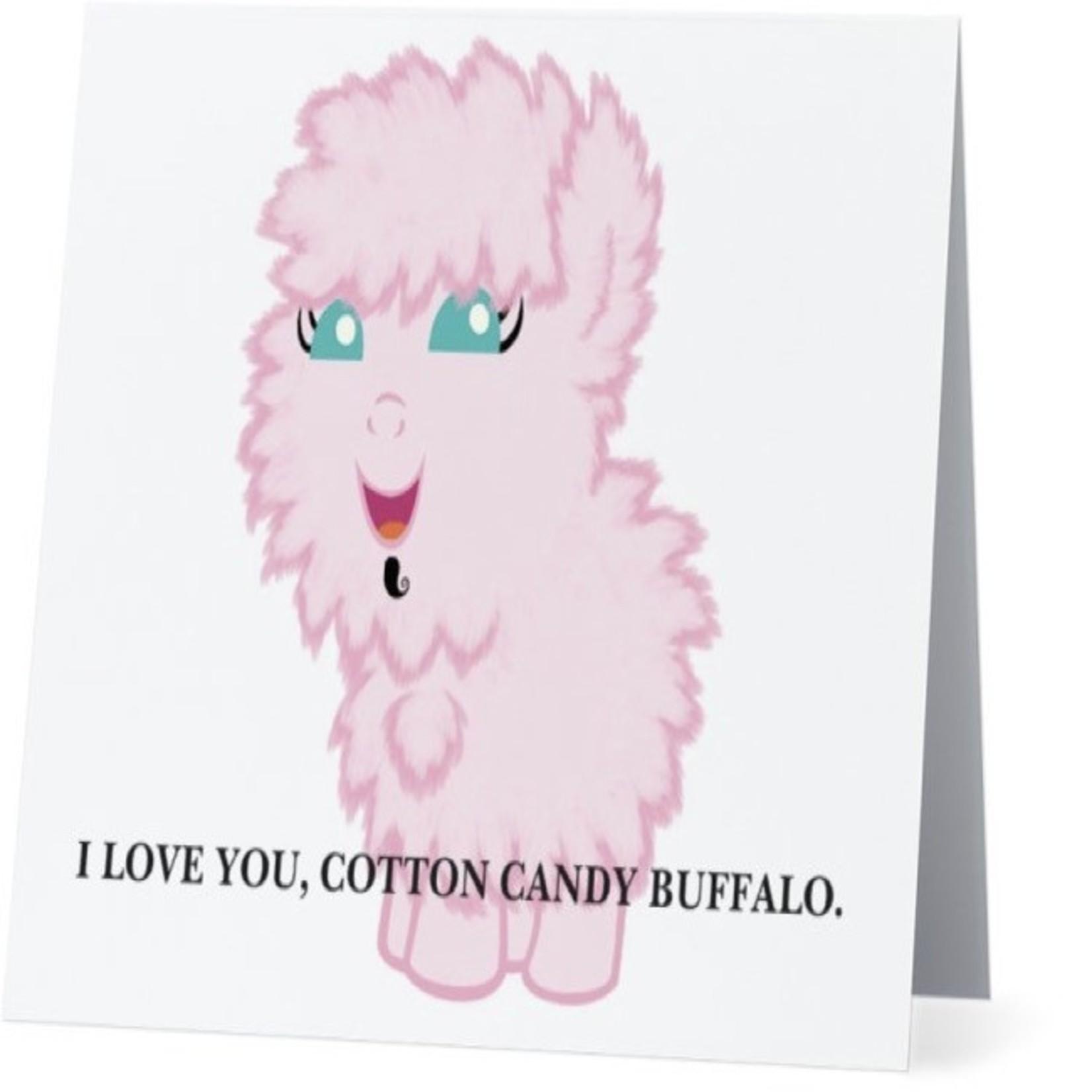 Bad Annie's Card #008 - I Love You Cotton Candy Buffalo