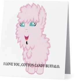 Annies Card #008 - I Love You Cotton Candy Buffalo