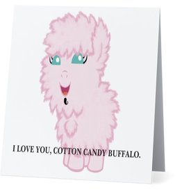 Card #008 - I Love You Cotton Candy Buffalo