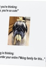 Annies Card #062 - Pug With Fries