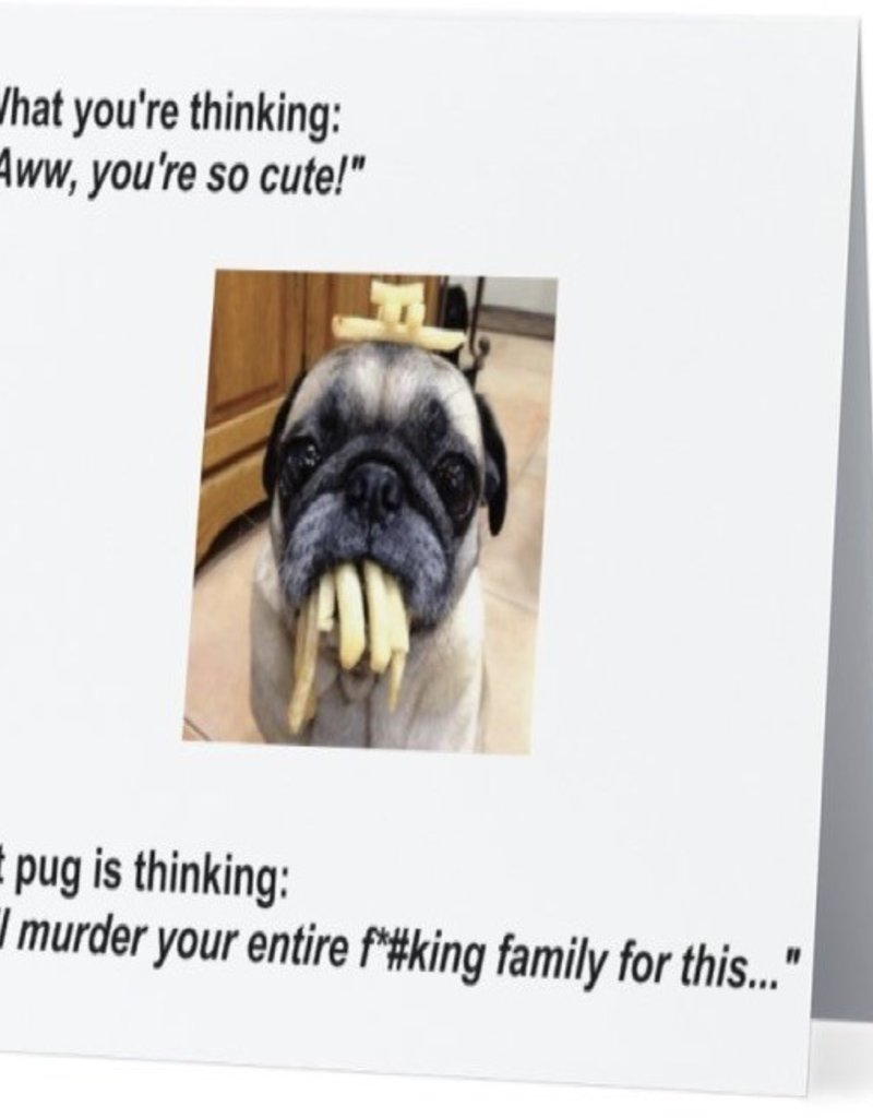 Card #062 - Pug With Fries