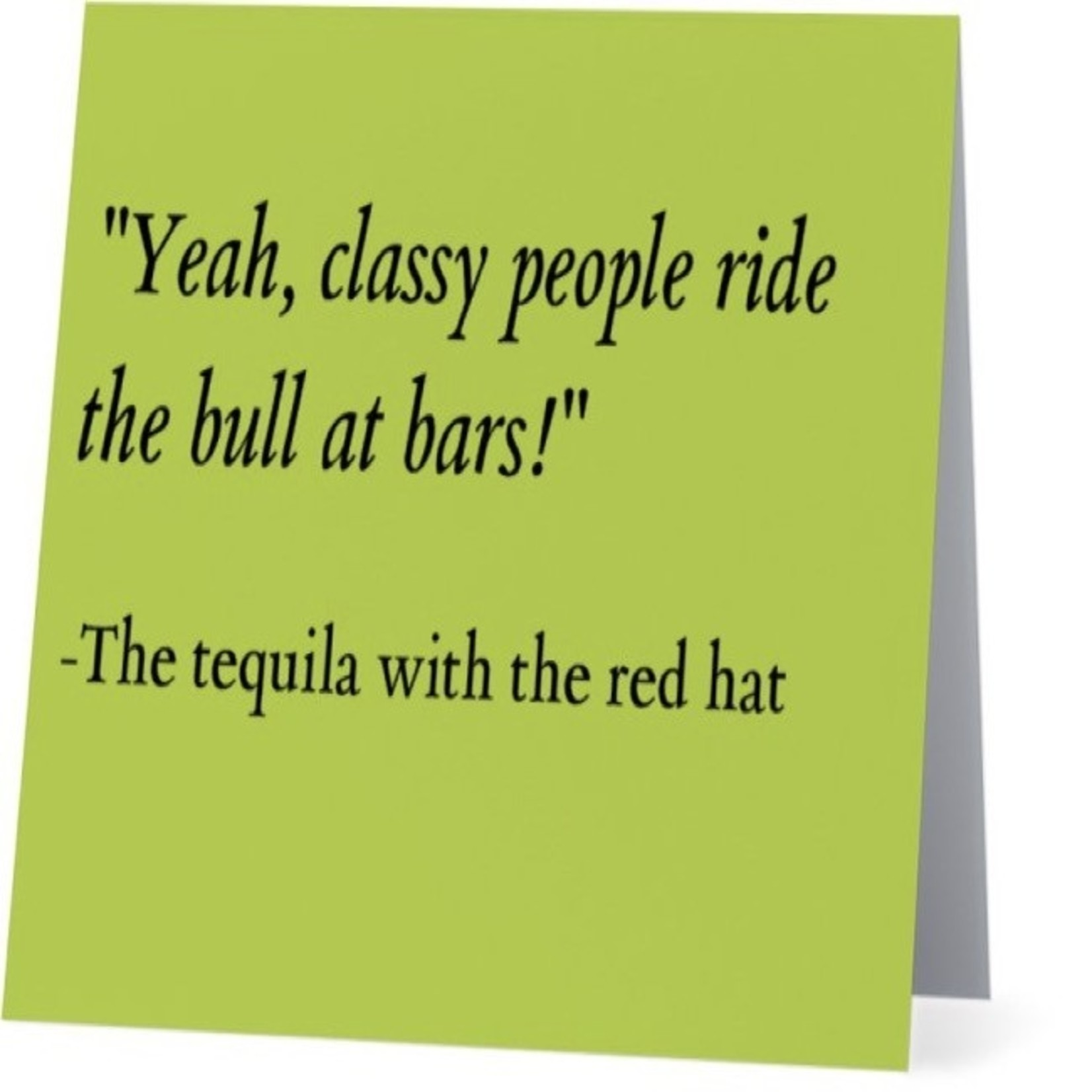 Bad Annie's Card #053 - Ride The Bull Tequila