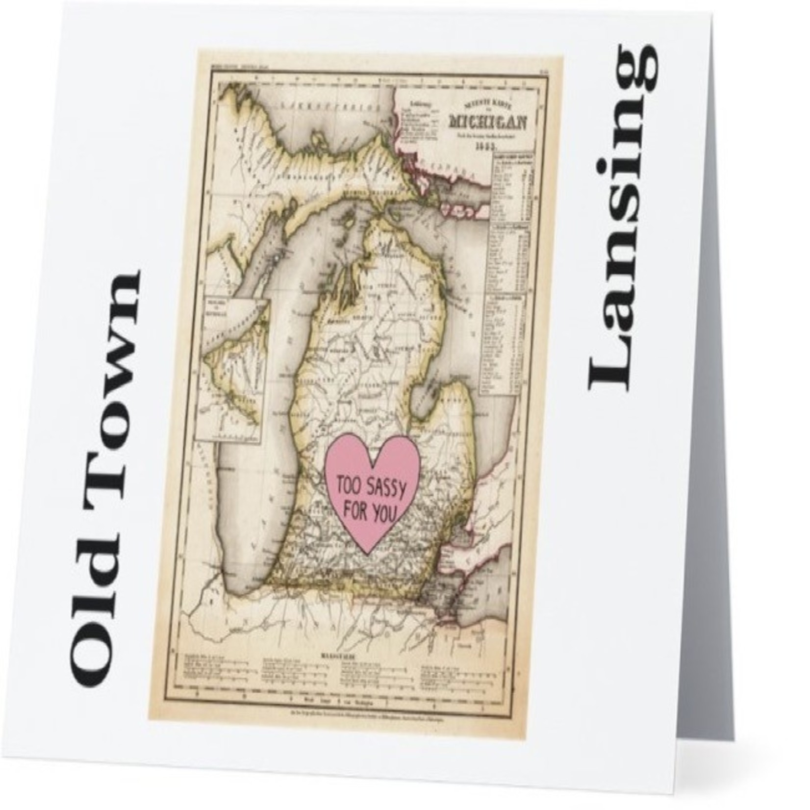 Bad Annie's Card #055 - Old Town Lansing, Too Sassy For You