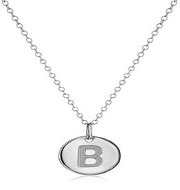 Cool And Interesting Necklace - Dainty Disc W/ Initial (Silver) (B)